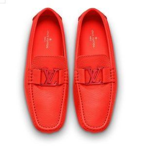 Louis Vuitton red Monte Carlo moccasins